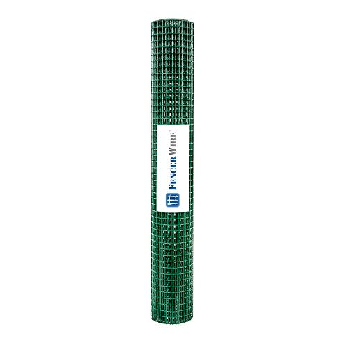 Fencer Wire 1/2 inch X 2 ft. X 8 ft. 19-Gauge PVC Coated Hardware Cloth