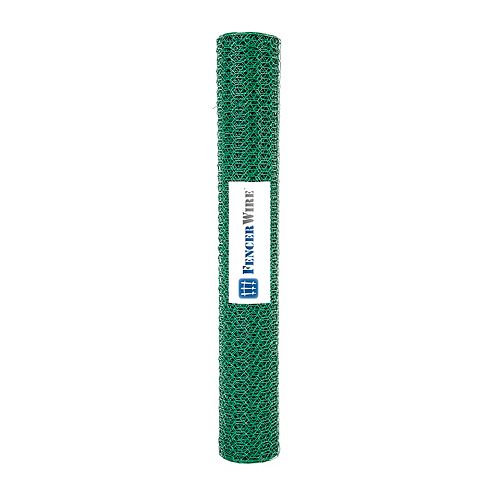 1/2 inch x 2 ft. x 25 ft. 24-Gauge Green PVC Coated Poutry Netting