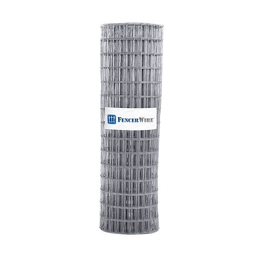 2 inch x 4 inch 5 ft. x 100 ft. 12.5-Gauge Galvanized Welded Fence