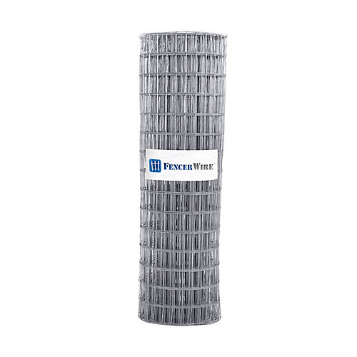2 inch x 4 inch 6 ft. x 100 ft. 12.5-Gauge Galvanized Welded Fence