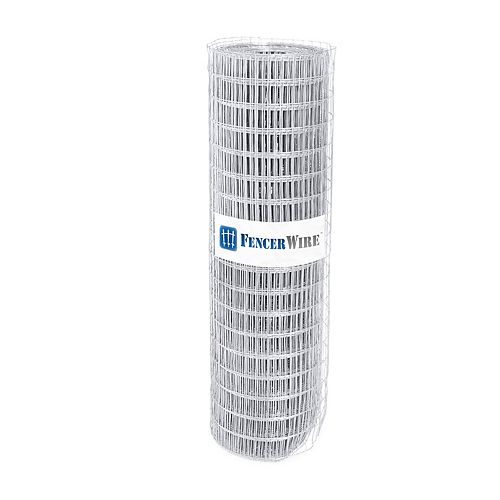 Fencer Wire 1-inch x 2-inch 3 ft. x 50 ft. 14-Gauge Galvanized Welded Fence