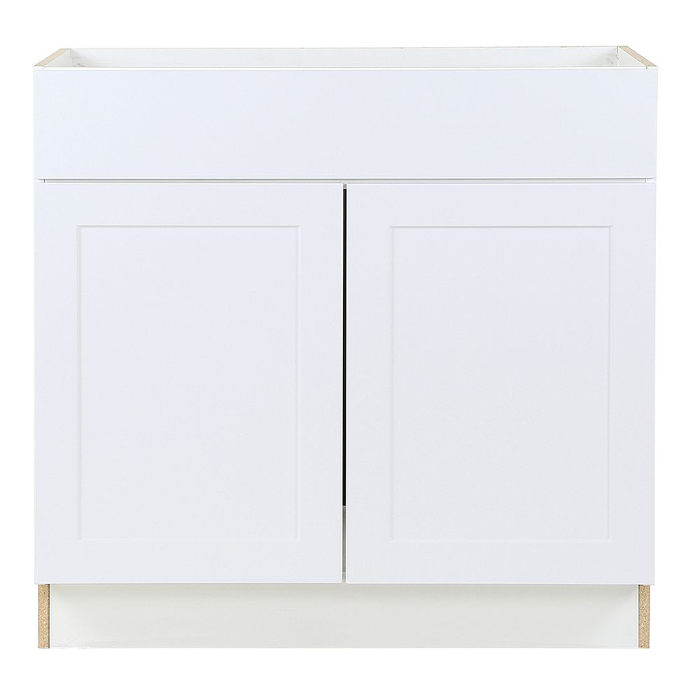 Hampton Bay Edson 36 Inch W X 34 5 Inch H X 24 5 Inch D Shaker Style Assembled Kitchen Sin The Home Depot Canada