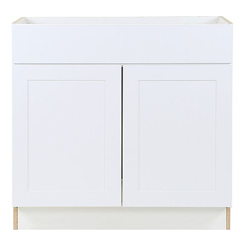 Edson White 36 inch W x 34.5 inch H x 24.5 inch D Base Cabinet BS36