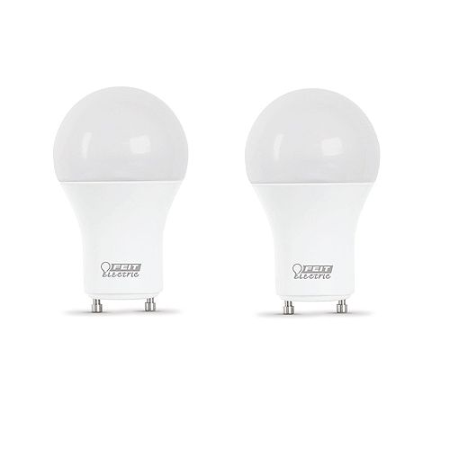 Feit Electric Ampoule DEL à intensité var. A19 GU24, équivalence de 60 W, 5 000 K, lumière naturelle, ens. de 2