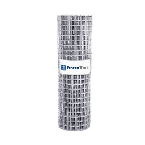 2 inch x 2 inch 4 ft. x 100 ft. 15-Gauge Galvanized Welded Fence