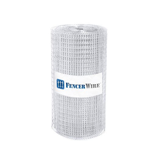 Fencer Wire 1 inch x 1/2 inch 2 ft. x 50 ft. 16-Gauge Galvanized Welded Fence
