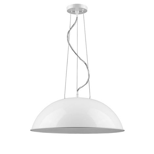 Acclaim Layla 1-Light 9.5-inch Dome modern look White Pendant
