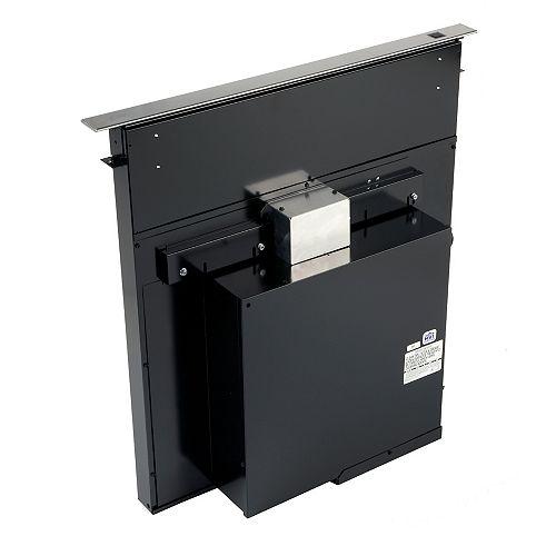 30-inch 500 CFM Downdraft range hood in stainless steel