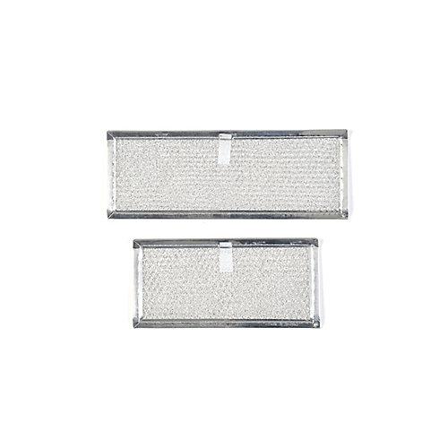 Filtres de remplacement en aluminium pour hotte à aspiration vers le bas Broan Elite 273003