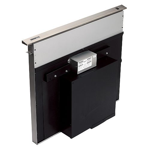 36-inch 500 CFM Downdraft range hood in stainless steel