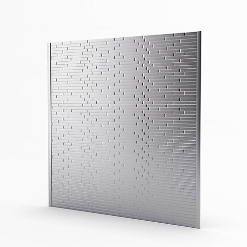 Linox Stainless 29.61-inch x 30.75-inch x 5 mm Metal Self-Adhesive Roll Backsplash Mosaic Tile