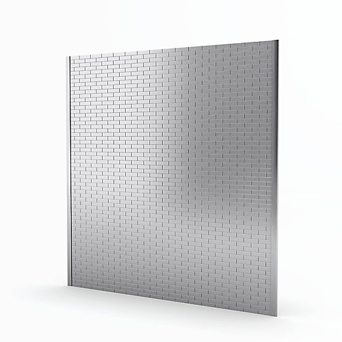 Bricky Stainless 30.12-inch x 29.59-inch x 5 mm Metal Self-Adhesive Roll Backsplash Mosaic Tile