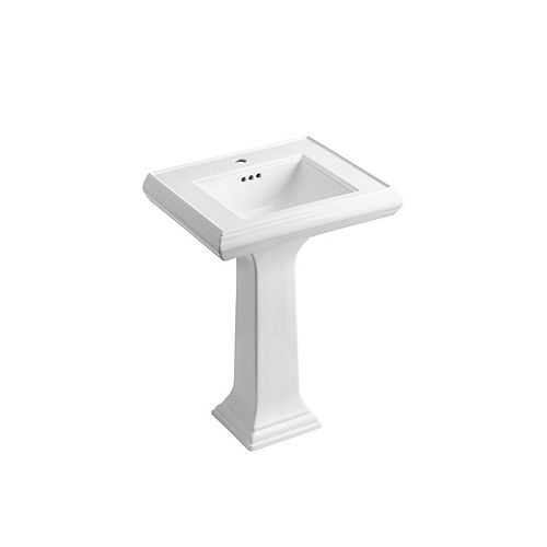 """Classic 24"""" Pedestal Bathroom Sink With Single Faucet Hole"""