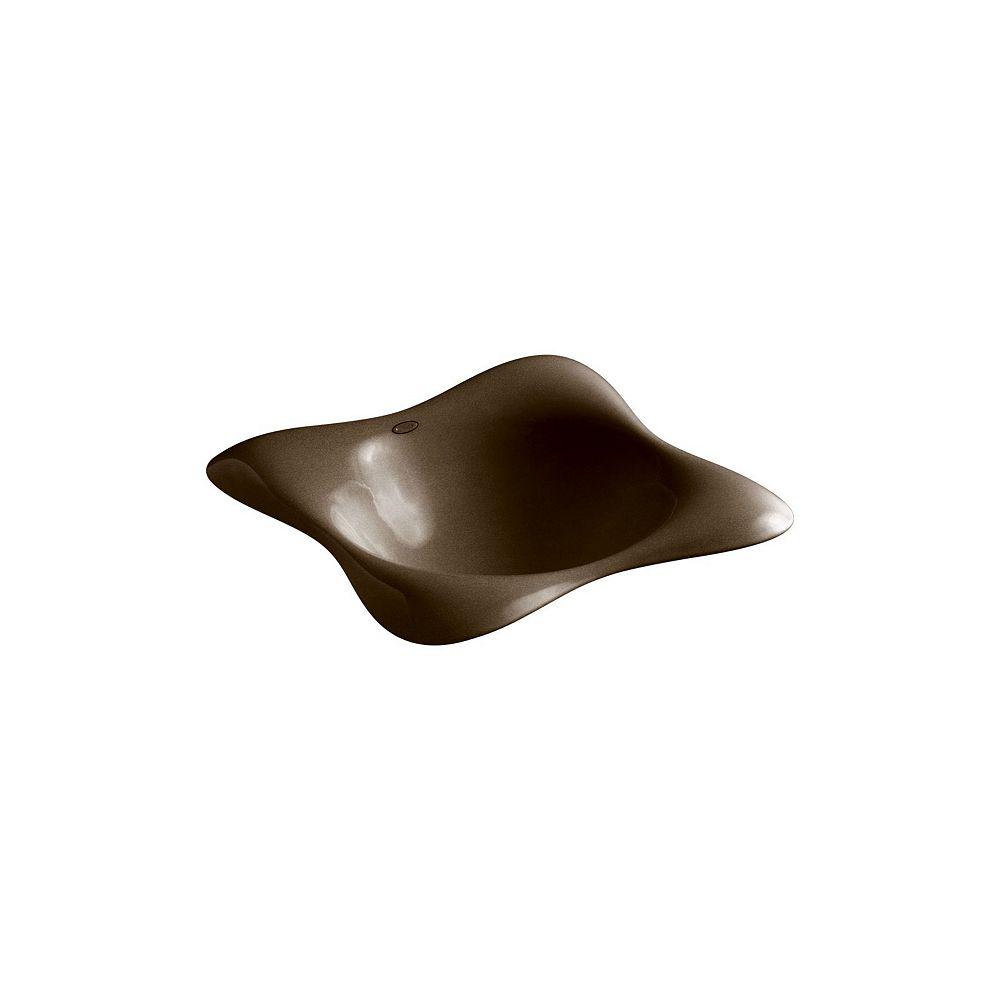 KOHLER Drop-In Bathroom Sink In Black N Tan