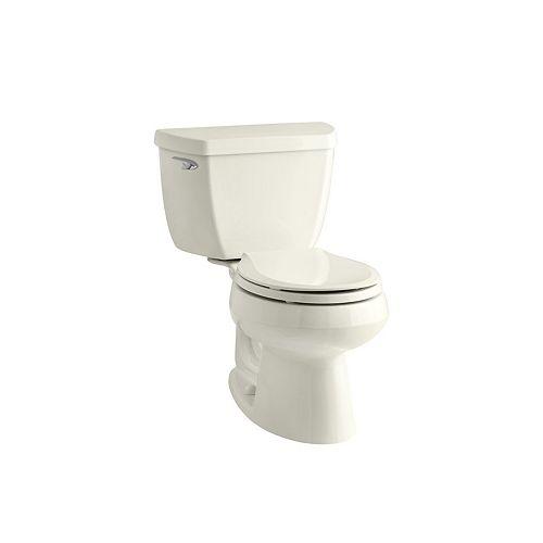 Wellworth Classic 2-teilige 1,28 GPF Einzelspülung Verlängerte Toilette in Biskuit