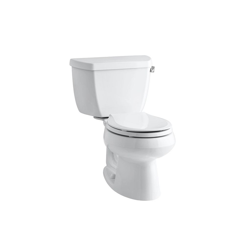 KOHLER Two-Piece Round-Front 1.28 Gpf Toilet, Seat Not Included In White
