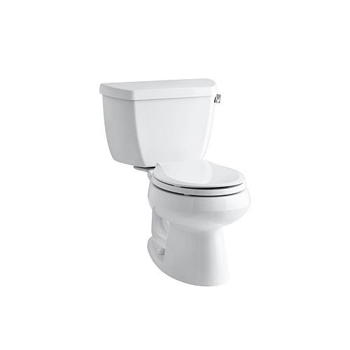 Two-Piece Round-Front 1.28 Gpf Toilet, Seat Not Included In White