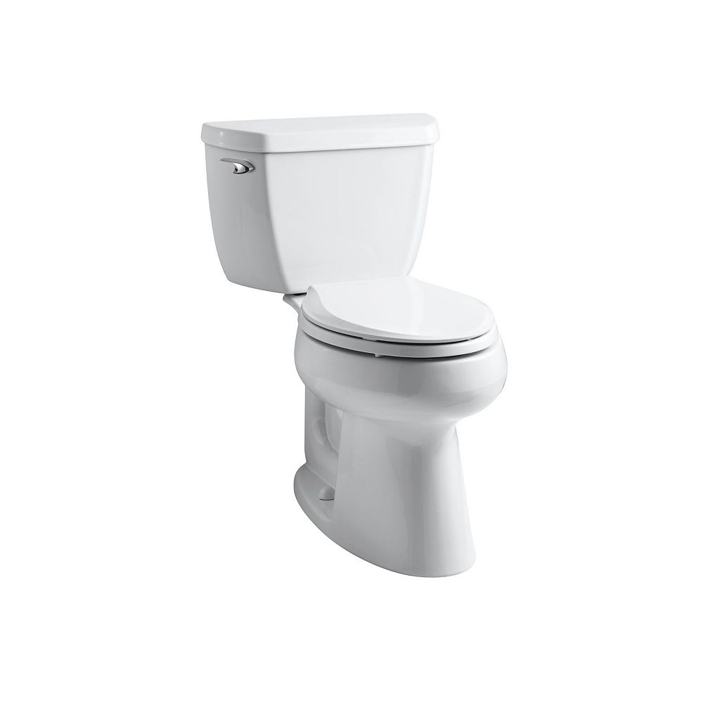 KOHLER Comfort Height Two-Piece Elongated 1.28 Gpf Toilet