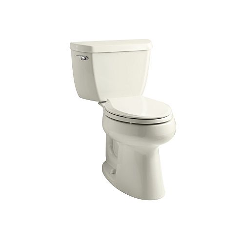 KOHLER Comfort Height Two-Piece Elongated 1.28 Gpf Toilet, Seat Not Included