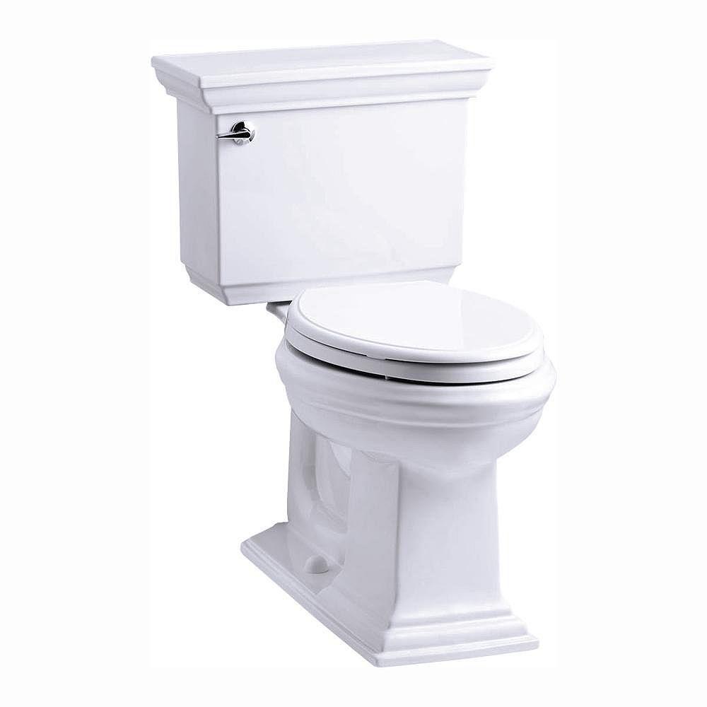 KOHLER Memoirs Stately 2-Piece 1.28 GPF Single Flush Elongated Toilet in White