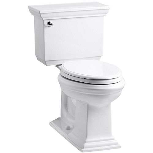 KOHLER Comfort Height Two-Piece Elongated 1.6 Gpf Toilet, Seat Not Included