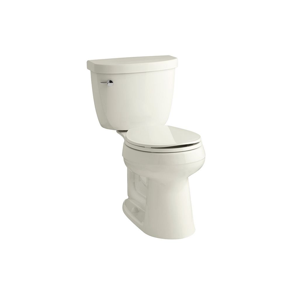 KOHLER Comfort Height Two-Piece Round-Front 1.6 Gpf Toilet, Seat Not Included