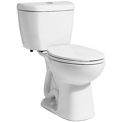 2-Piece 0.8 GPF Ultra-High-Efficiency Single Flush Elongated Toilet