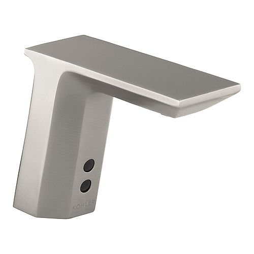 Geometric Single-Hole Touchless Ac-Powered Commercial Bathroom Sink Faucet