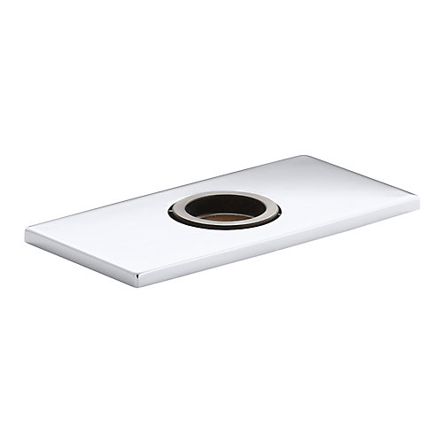 Optional 4 inch Escutcheon Square Plate For Insight Faucet