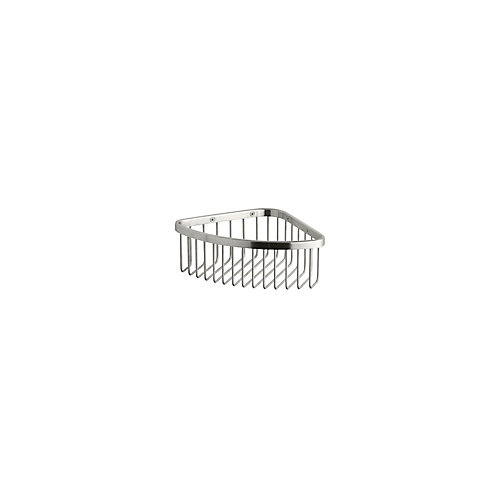 Medium Shower Basket In Brushed Stainless
