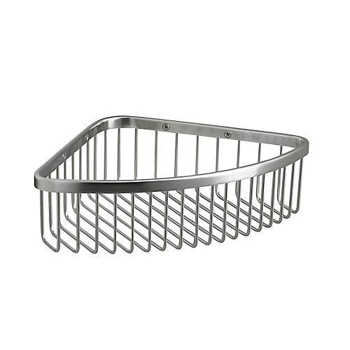Large Shower Basket In Polished Stainless