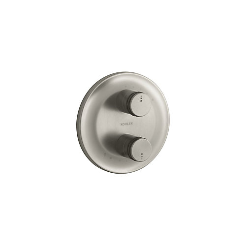 Mastershower Stacked Thermostatic Valve Trim In Vibrant Brushed Nickel