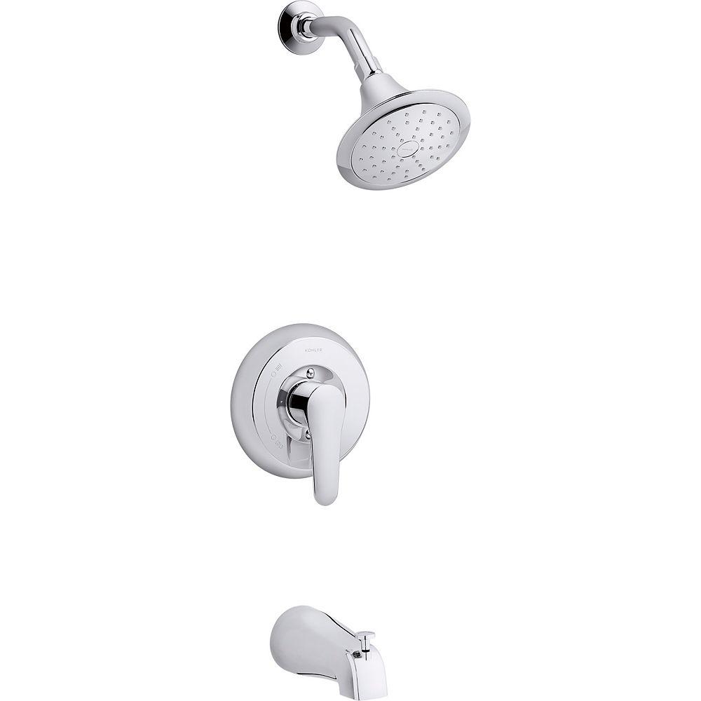 KOHLER Rite-Temp Bath And Shower Trim Set In Polished Chrome
