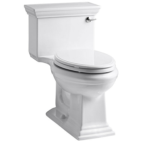 Memoirs 1.28 White Watersense Elongated Chair Height 1-Piece Toilet