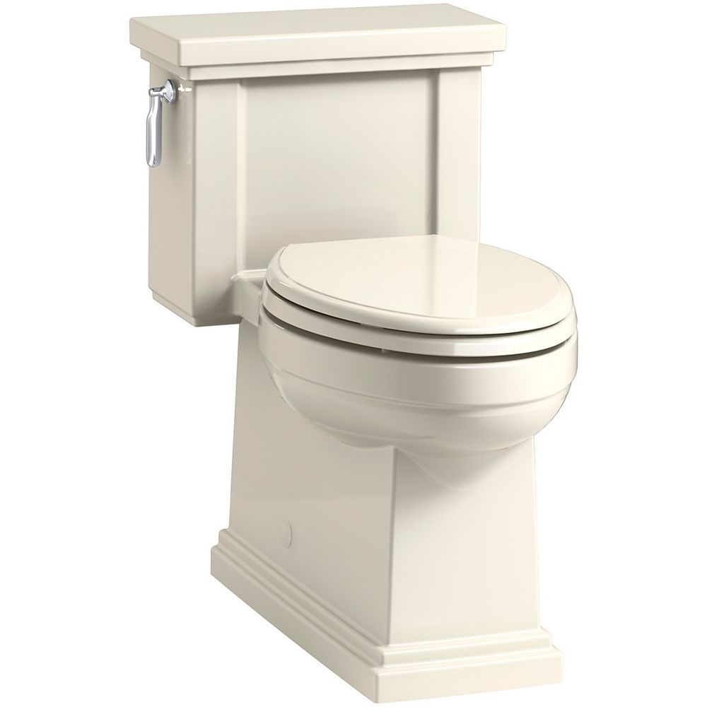 KOHLER Comfort Height One-Piece Compact Elongated 1.28 Gpf Toilet In Almond