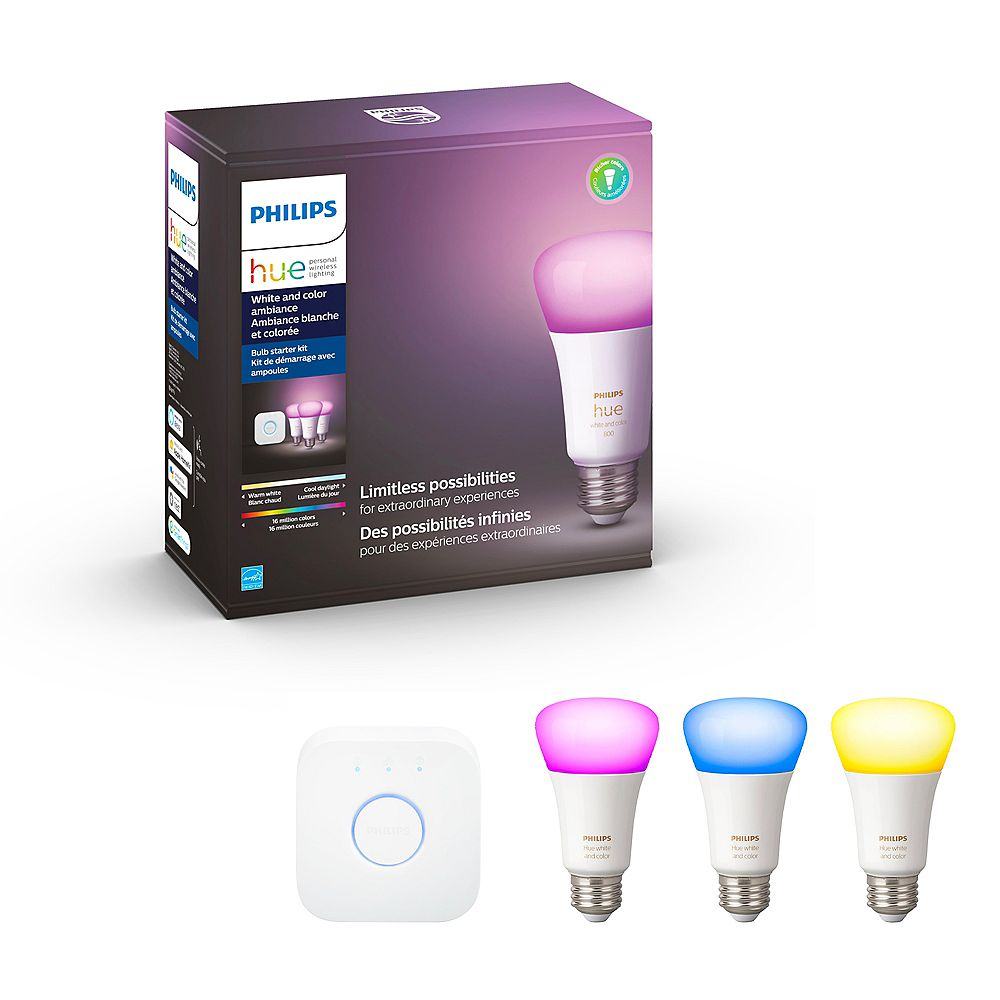 Philips HUE White & Colour Ambiance Starter Kit-(3-Pack)