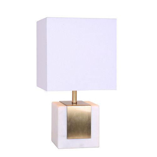 "L2 Lighting Lampe de table de 17"" en marbre et en métal"