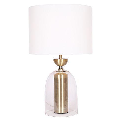 Lampe de table avec cyclindre en verre