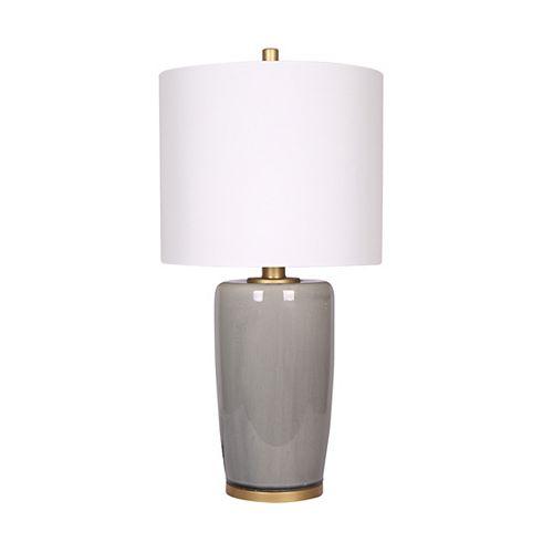 Lampe de table en céramique grise