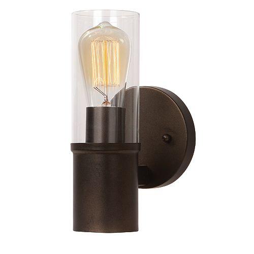 L2 Lighting Matte black Steel Single wall sconce