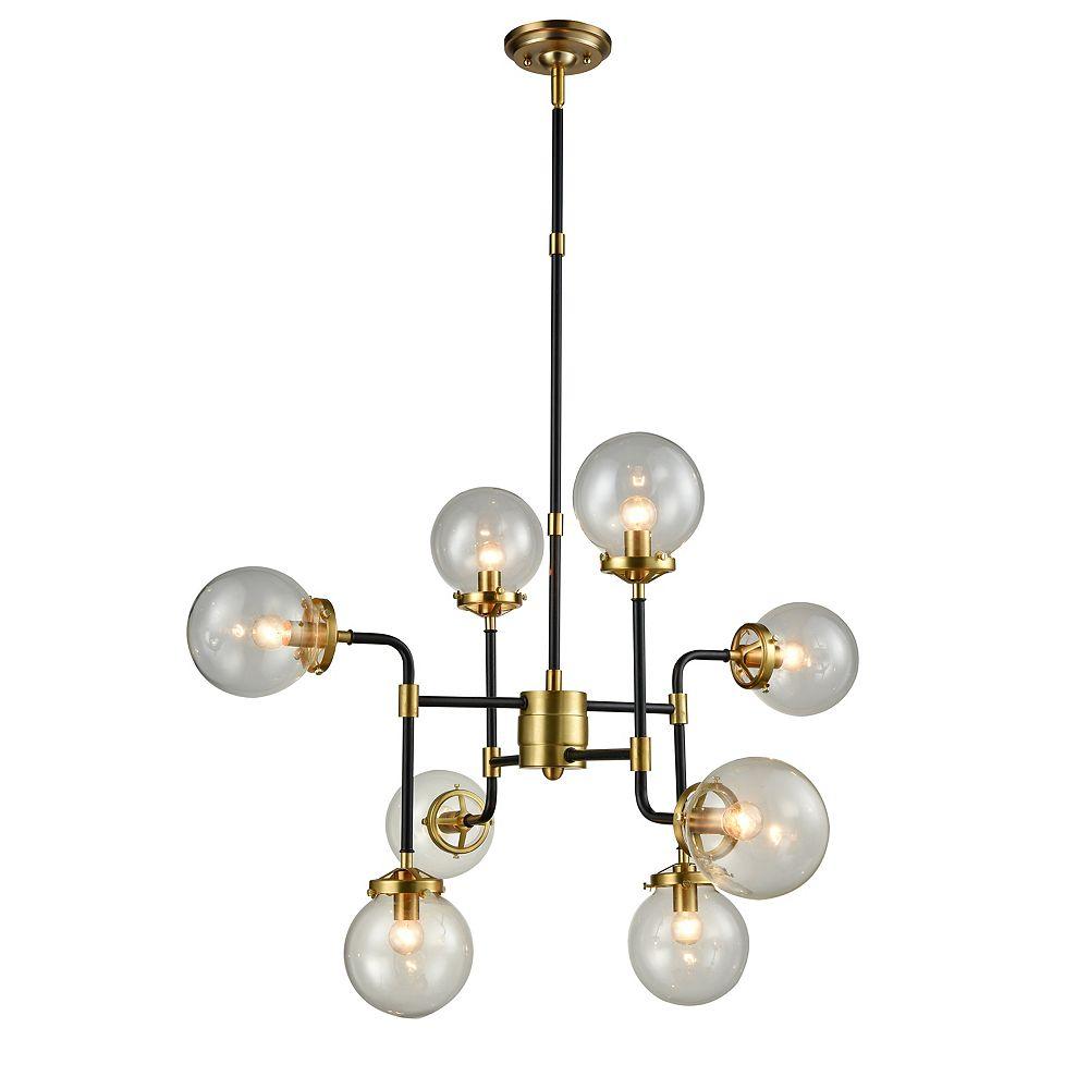 L2 Lighting 8 Lights Pendant Lamp Satin Gold The Home Depot Canada