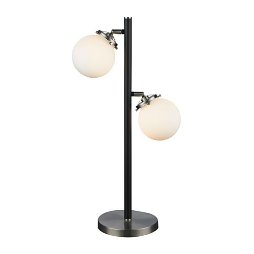 Lampe de table Paris fini nickel brossé