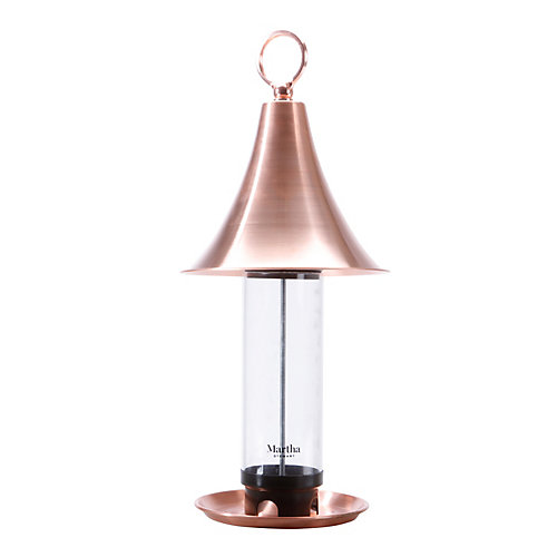 Martha Stewart MTS-CBF1 Real Copper Bird Feeder w/ 4 Feeding Ports
