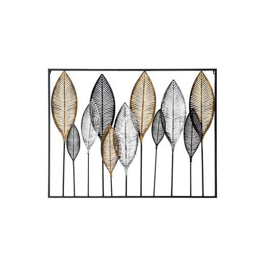 Open-Framed Leaf Wall Décor