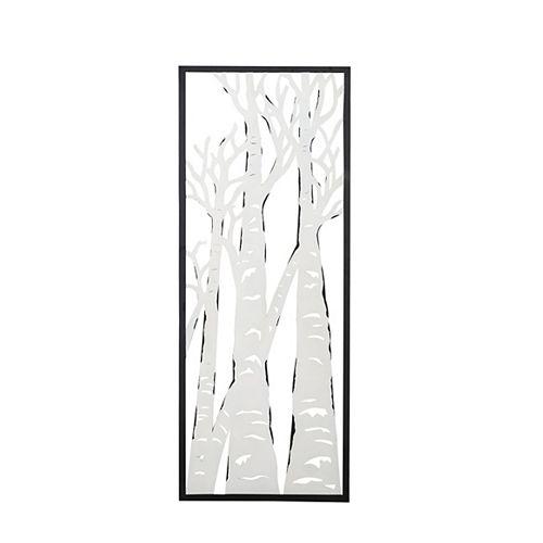 Décoration murale ajourée pour l'extérieur à motif d'arbres