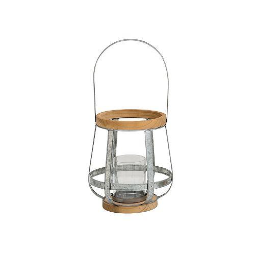 Hampton Bay 8.8-inch Mixed Material Lantern