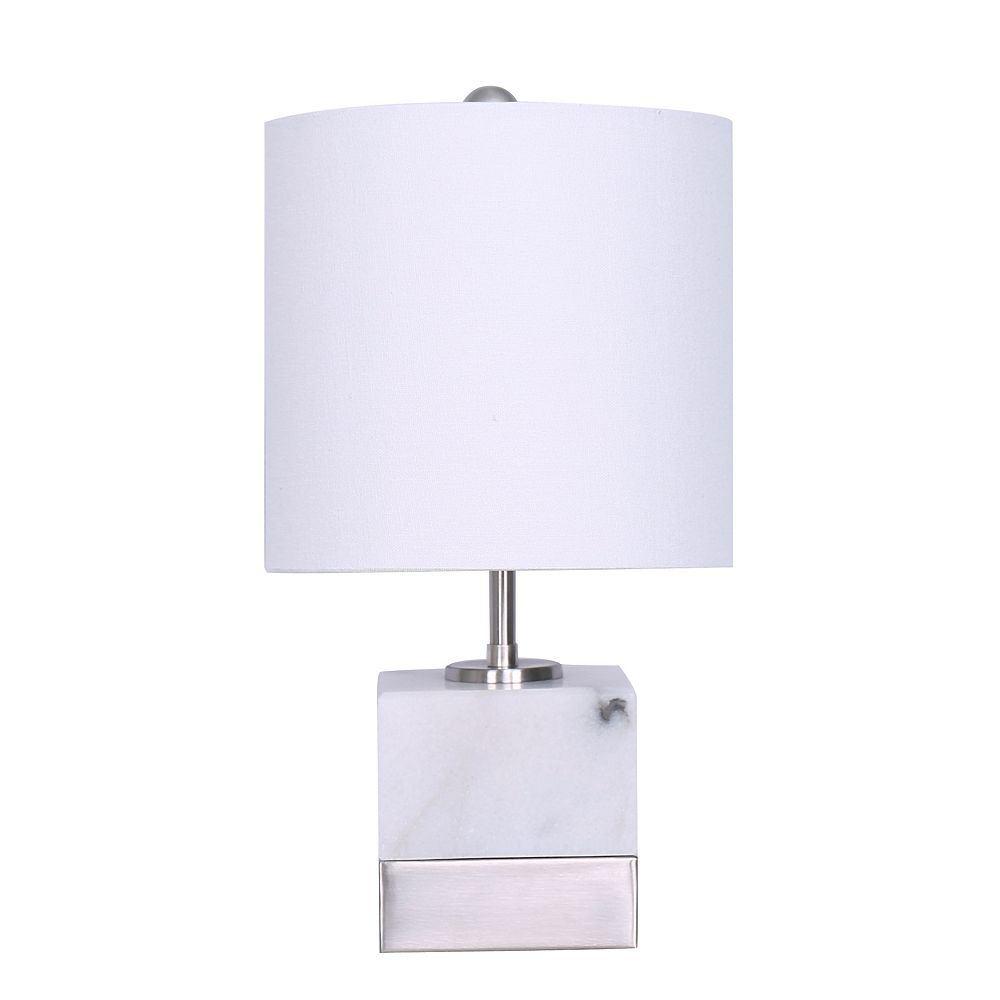 L2 Lighting Noah Marble Table Lamp The Home Depot Canada