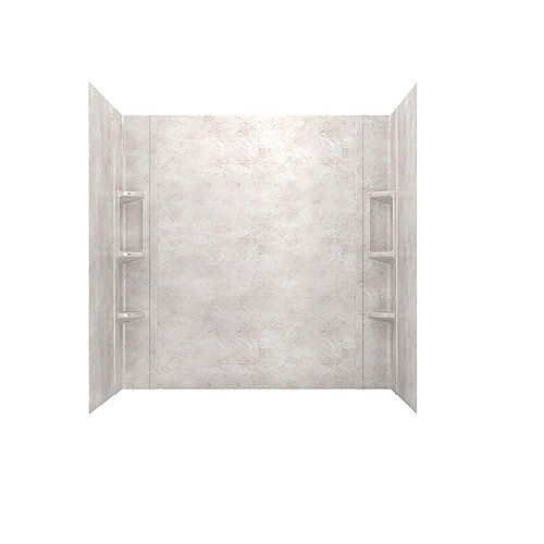 Colony 32-inch x 60 inch 5-Piece Glue-Up Alcove Bath Wall Set in Beige Parchment