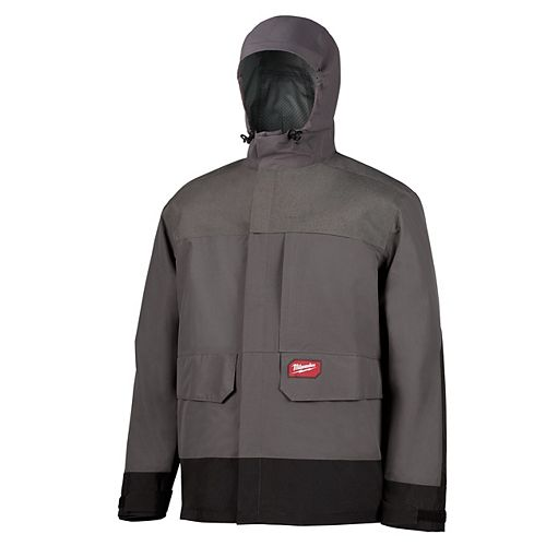 Milwaukee Tool Men's X-Large Grey HYDROBREAK Layer Rain Shell Jacket