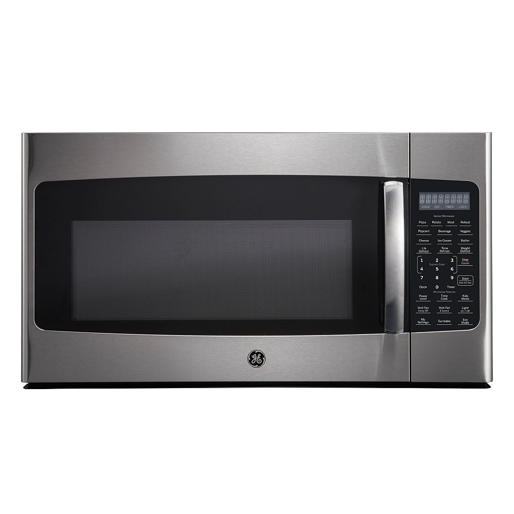 GE 30-inch 1.8 Cu Ft Over-The-Range Microwave Oven in Stainless Steel